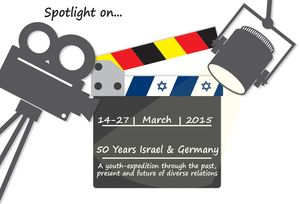 "Logo Jugendbegegnung ""Spotlight on... 50 Years Israel & Germany"""