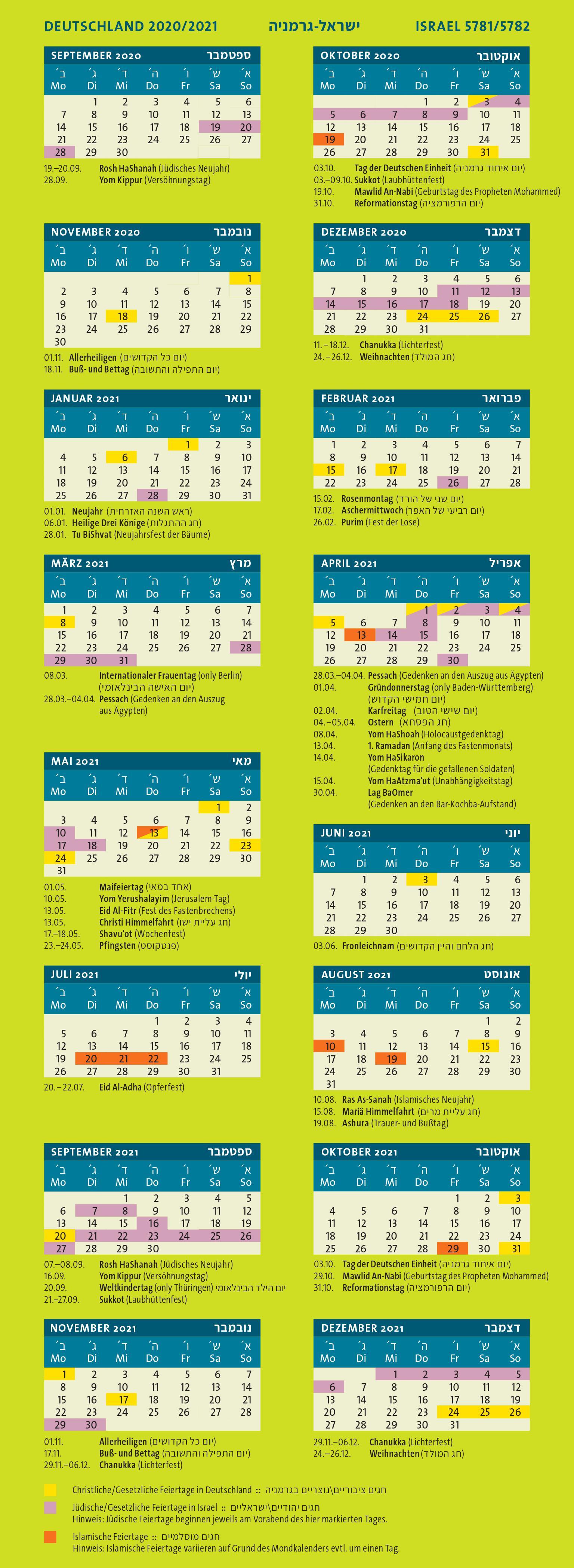 Bewegliche Ferientage Bw 2021