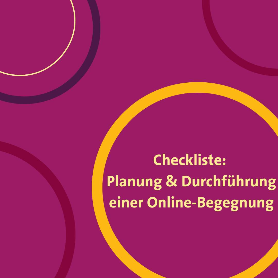 Checkliste für die Planung und Durchführung von digitalen Austauschprogrammen