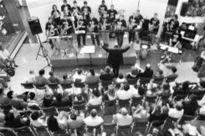 Konzert in Stef Wertheimers Industriepark Tefen.